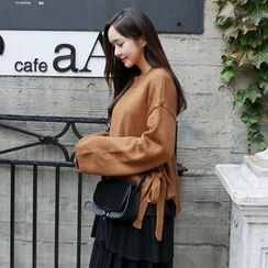 Envy Look - Tie-Side Oversized Knit Top