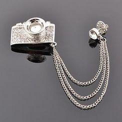 潮野 - 水钻相机胸针
