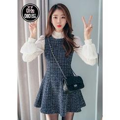 Chlo.D.Manon - Sleeveless Tweed A-Line Mini Dress