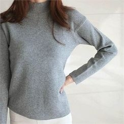 YOOM - Mock-Neck Knit Top
