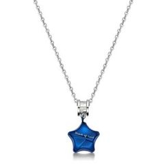Kenny & co. - Share Of Love Ip Blue Star Charm With Roll Steel Necklace
