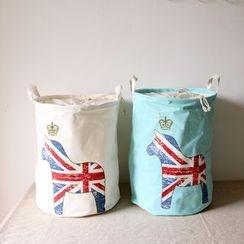 三木青禾 - 可折叠束口棉麻收纳桶