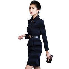 艾尚臣 - 套裝: 雙排扣西裝 + 鉛筆短裙