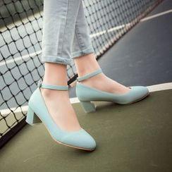 錦洋鞋業 - 蝴蝶結踝扣追跟鞋