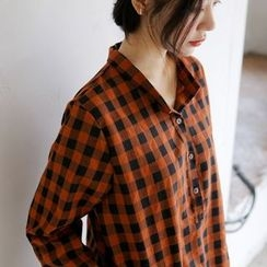 JUSTONE - Half-Placket Check Shirt