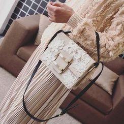 Youme - Crochet Lace Floral Shoulder Bag