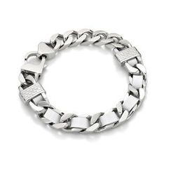Kenny & co. - White Leather Screw Bracelet (L)