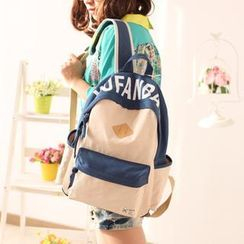 Canvas Love - Lettering Canvas Backpack