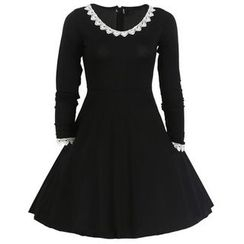 Forest Of Darama - Lace Trim A-Line Dress
