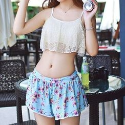 DJ Design - Set: Floral Print Bikini + Cover-Up Skirt