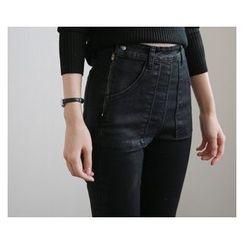 demavie - Zip-Side Boot-Cut Jeans