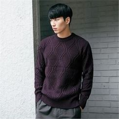 STYLEMAN - Round-Neck Patterned Sweater