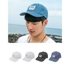 STYLEMAN - Appliqué Striped Baseball Cap