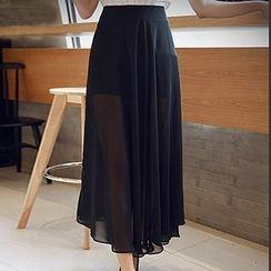 YOZI - Chiffon Maxi Skirt