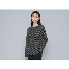 Envy Look - Striped Loose-Fit T-Shirt