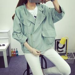 Sienne - 3/4-Sleeve Button Down Jacket
