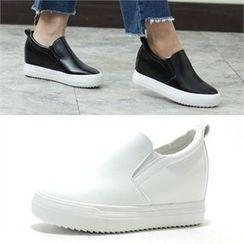 MODELSIS - Genuine Leather Slip-Ons