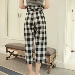 Whitney's Shop - Cropped Gingham Pants