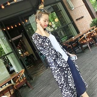 Smile.Hotel - Butterfly-Print Long Cardigan