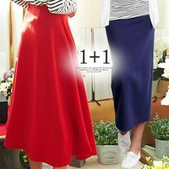 ANNINA - Set: A-Line Long Skirt + Slit Back Long Skirt