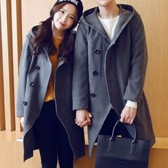 Bay Go Mall - Hooded Long Coat