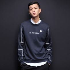 T for TOP - Long-Sleeve Lettering Top