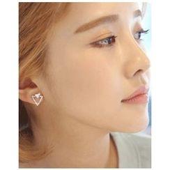 Miss21 Korea - Rhinestone Triangle Stud Earrings