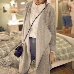 Wimi girls - Open Front Knit Long Jacket