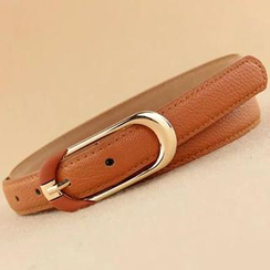 Charm n Style - Faux-Leather Slim Belt