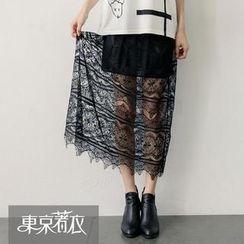 Tokyo Fashion - Lace-Overlay Maxi Skirt