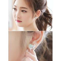 kitsch island - Cat Embellished Stud Earrings