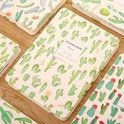 Show Home - Cactus Print Notebook ( S / M )