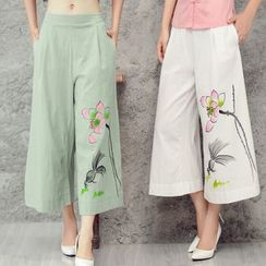 Diosa - Cropped Wide Leg Pants