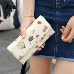 Princess Carousel - Printed Long Fold Wallet