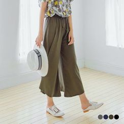 OrangeBear - Drawstring-Waist Wide-Leg Pants