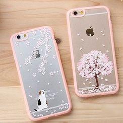 Casei Colour - iPhone 6 Cherry Blossom Print Transparent Case