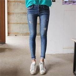 QNIGIRLS - Distressed Skinny Jeans