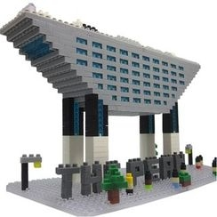 M.H. Blocks - Hong Kong Peak Tower Toy Building Blocks