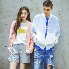 Evolu Fashion - Couple Matching Light Zip Jacket