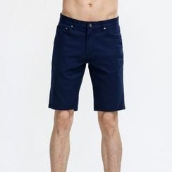 Yishion - 棉質混紡短褲