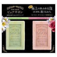 Kracie - Pure Savon Body Wash Trial Set: Classic Floral 8ml + Rose 8ml