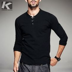 Quincy King - Plain Long-Sleeve Henley
