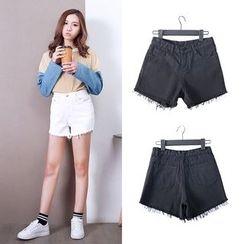 Jeans Kingdom - High-Waist Denim Shorts