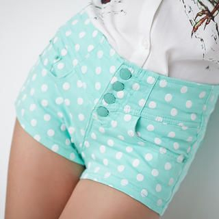 Sweet Dolly - High-Waist Dotted Shorts