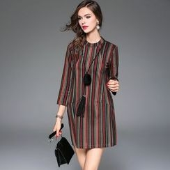 Queen Mulock - Striped Shift Dress