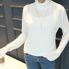 DANI LOVE - Cowl-Neck Long-Sleeve T-Shirt