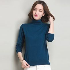 Emeline - Turtleneck Knit Top