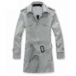 Alvicio - Single-Breasted Trench Coat