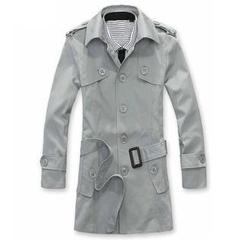 Alvicio - Single-Breasted Trench Coat