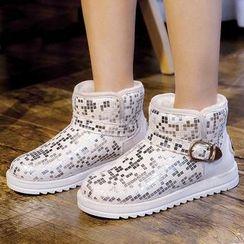 Renben - Glitter Snow Short Boots